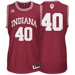 ADIDAS Crimson Men's Basketball Replica #40 Indiana Jersey