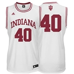 ADIDAS White Men's Basketball Replica #40 Indiana Jersey