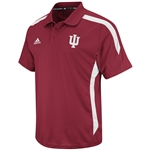 "ADIDAS ""Sideline"" Crimson Performance Indiana ""IU"" Coaches Polo"