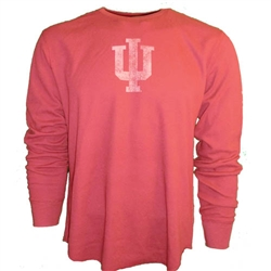 "LONGSLEEVE ADIDAS Crimson ""IU"" INDIANA Thermal Shirt"