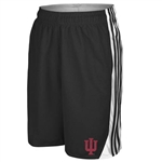 "ADIDAS ""Hoops"" 3 Stripe Black Indiana ""IU"" Athletic Shorts"