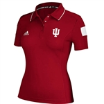 ADIDAS Womens IU Sideline Short Sleeve Polo - Crimson