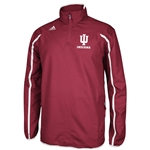 ADIDAS Crimson IU INDIANA CLIMAPROOF Sideline 1/4 Zip Pullover