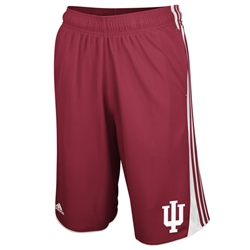 "ADIDAS ""Hoops"" Crimson Indiana ""IU"" Athletic Shorts"