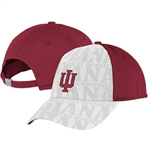"ADIDAS Adjustable Womens ""IU"" Indiana Crimson Cap with White Insert"