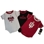 ADIDAS Indiana IU Infant 3-Pack Bodysuits Onesies Combo