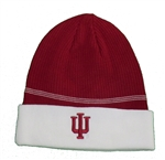 "ADIDAS Crimson Cuffed ""IU"" Ribbed Knit Beanie"