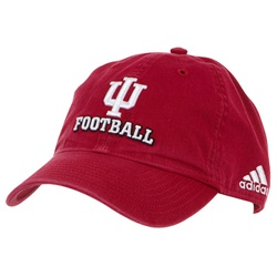 ADIDAS Indiana Football Crimson Slouch Fit Adjustable Cap