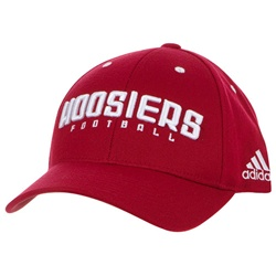 ADIDAS HOOSIERS Football Crimson Structured Coaches Adjustable Cap
