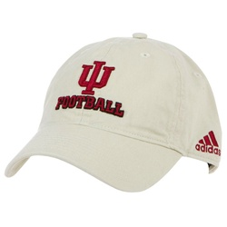 ADIDAS Indiana Football Khaki Slouch Fit Adjustable Cap