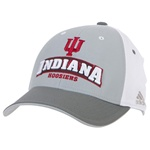 ADIDAS Grey Panel Structured INDIANA HOOSIERS Flex-fit Cap