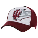 Indiana White Shadow Mesh One-Fit Indiana IU Cap