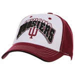 Indiana Hoosiers White Panel Structured Adjustable Cap from TOW