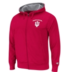 "Colosseum ""Frost"" Full Zip Crimson Fleece Sweatshirt"