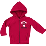 "Colosseum Infant ""Mist"" Full Zip Hooded Polar Fleece Jacket Indiana Hoosiers IU"