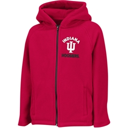 "Colosseum Toddler ""Mist"" Full Zip Hooded Polar Fleece Jacket Indiana Hoosiers IU"