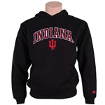 Black Youth Pullover INDIANA HOOSIERS Hooded Sweatshirt from Colosseum