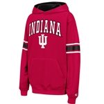 Crimson Youth THROWBACK Pullover INDIANA IU Hooded Sweatshirt from Colosseum