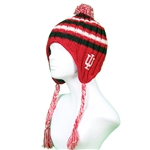 "Indiana Hoosiers """"ICEBERG"""" Adult  Winter Flap/Tassle Knit"