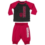 "Indiana Hoosiers Infant ""Chase""  LS T-Shirt and Pant Combo from Colosseum"