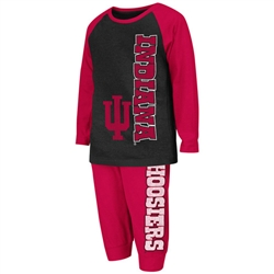 "Indiana Hoosiers Toddler ""Chase""  LS T-Shirt and Pant Combo from Colosseum"