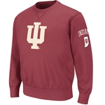 "Crimson ""SEQUOIA"" IU Hoosiers Crew Neck Sweatshirt"
