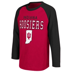 "Colosseum Kids Long Sleeve ""CALVARY"" Indiana Hoosiers T-Shirt"