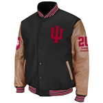 Indiana Hoosiers Wool and Leather Letterman Jacket from Colosseum