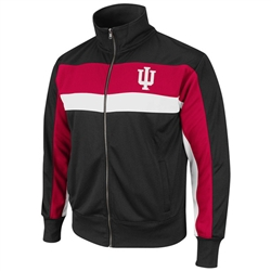 Indiana IU 'Freestyle' Black/Crimson/White Zip Track Jacket