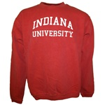 Garment Washed Crimson INDIANA UNIVERSITY Crew Neck Sweatshirt