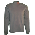 Indiana IU Soft Black Sueded Cotton Jersey Mock Turtleneck