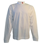 Indiana IU White Sueded Cotton Jersey Mock Turtleneck