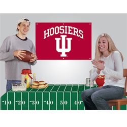 Indiana Hoosiers Party Kit with Banner and Table Cover