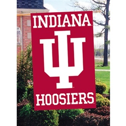 "Indiana Hoosiers Two-Sided 44"" by 28"" Applique Flag"