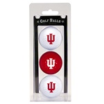 Indiana Hoosiers Clear Three Pack of Golf Balls
