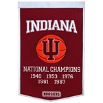 Indiana Hoosiers Dynasty Men's Basketball Commemorative Banner