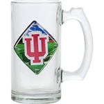 High Definition 13 Ounce Indiana Handled Glass Mug