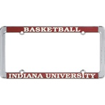 Indiana BASKETBALL Polished Chrome Metal License Plate Frame