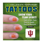 "Indiana Hoosiers ""IU"" Temporary Nail Tattoos"