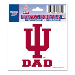 "Indiana ""IU Dad"" Ultra Decal from Wincraft"