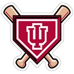 "Indiana Baseball ""Crossed Bats"" 5"" Magnet"