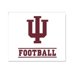 "Indiana ""IU Football"" WIndow Decal from SDS"