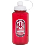 Indiana Hoosiers Crimson Plastic Screw-Top Sports Water Bottle from Hunter Mfg.