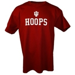 YOUTH Crimson Indiana Basketball HOOPS T-Shirt