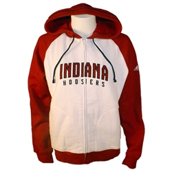 Women's Raglan Full Zip Hooded INDIANA HOOSIERS Sweatshirt from ADIDAS