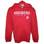 Crimson INDIANA FOOTBALL Full Zip Hooded Sweatshirt from ADIDAS