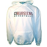 Distressed White HOOSIERS BASKETBALL Hooded Sweatshirt