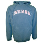 Blue Jean Pigment Dyed INDIANA Hoodie with Pink Letters