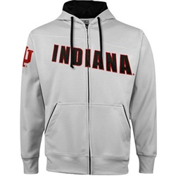 "Indiana Hoosiers ""Pro-Star"" Performance Full-Zip Hooded Sweatshirt from Colosseum"