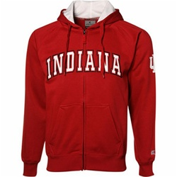 "Colosseum Full Zip ""Automatic"" Crimson Hooded Sweatshirt"